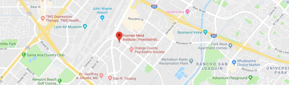 Psychiatrist in Newport Beach California - Google Map